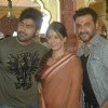 Mahima, Arya Babbar and Sanjay Kapoor at a shoot for film Mumbhai the Gangsters to support Anna Haza