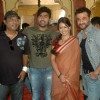 Mahima, Arya and Sanjay Kapoor at a shoot for film Mumbhai the Gangsters to support Anna Hazare