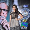 Sonam Kapoor with Amitabh Bachchan promote Mausam on the sets of KBC in Film City. .