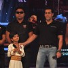 Salman Khan on the sets of Sa Re Ga Ma Lil Champs to promote Bodyguard at Famous Studio. .
