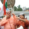 Raza Murad support Anna Hazare at Juhu