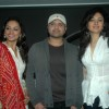 Himesh Reshammiya with Purbi Joshi and Sonal Sehgal launches music of movie 'Damadamm', Andheri