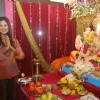 Nandini Singh celebrates Ganpati in Aroma building, Andheri West