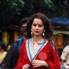 Kangna Ranaut snapped at Siddhivinayak Temple