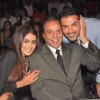 John Abraham, Dharmendra and Genelia Dsouza on the sets of India's Got Talent at Film City
