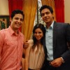 Karthik and Natasha with Siddharth in Bade Acche Laggte Hai