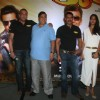 Sanjay Dutt, Ajay Devgn, Lisa and David at Film 'Rascals' music launch at Hotel Leela in Mumbai