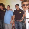 Lisa Haydon, Sanjay Dutt, David Dhawan & Ajay Devgn at the press meet of the film Rascals