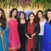 Sheeba, Bhagyashree, Uvika, Manasi and Achla at Nisha Sagar's latest anaarkalis 'SMITTEN' at Juhu