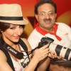 Soha Ali Khan with Canon India's Vice President Alok Bharadwaj at the 'Canon Photo Marathon' in New