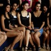 The female model audition for Wills Lifestyle India Fashion Week SS'12  at Hotel Lalit in New Delhi