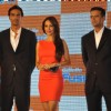 Malaika Arora Khan, Arjun Rampal and Rahul Dravid at launch of 'Gillette Fusion'