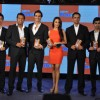 Malaika Arora Khan, Arjun Rampal, Baichung Bhutia and Rahul Dravid at  launch of 'Gillette Fusion'