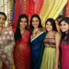 Supriya, Bhairavi, Shruti Ulfat, Neha Narang and Tapeshwari on the sets of Sasural Genda Phool