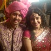 Sham Mashalkar and Ragini Khanna on the sets of Sasural Genda Phool