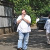 Rajiv Kapoor at Producer Surinder Kapoor funeral at Vile Parle in Mumbai