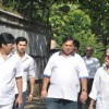 David Dhawan at Producer Surinder Kapoor funeral at Vile Parle in Mumbai