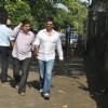 Javed Jaffrey at Producer Surinder Kapoor funeral at Vile Parle in Mumbai