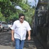Pankaj Dheer at Producer Surinder Kapoor funeral at Vile Parle in Mumbai