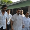 Sanjay Kapoor, Chunky Pandey at Producer Surinder Kapoor funeral at Vile Parle in Mumbai