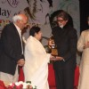 Yash Chopra and Big B at Lata Mangeshkar birthday bash at Shanmukhanand Hall