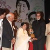 Big B and Yash Chopra at Lata Mangeshkar birthday bash at Shanmukhanand Hall