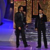 Shah Rukh Khan and Hrithik Roshan at the finale of Just Dance at Filmcity, Mumbai