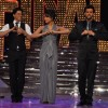 Shah Rukh Khan, Priyanka Chopra and Hrithik Roshan at the finale of Just Dance at Filmcity, Mumbai