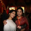 Tanisha and Sharbani Mukherjee at Sarbojanin Durga Puja Pandal in Mumbai