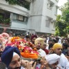 Funeral of Legendery Gazal Singer 'Jagjit Singh' at Chandanwadi Crematorium, Amrin Lines in Mumbai