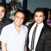 Sachin Joshi with Sunil Gavaskar at Premiere of film 'Aazaan' at the Grand Cineplex in Dubai