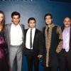 Sachin Joshi,Ravi Kissen and Candice Boucher at Premiere of film 'Aazaan' at Grand Cineplex in Dubai