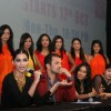 Sonam Kapoor, Atul Kasbekar and Ujjwala Raut as a judge in Kingfisher Calendar Girl 2011 contest