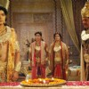 Raja Ram with his faithful minister Sumant, Bharat, and Lakshman
