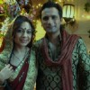 Tarana and Jai on BALH set, celebrating Karva Chauth
