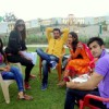 Cast on the sets of  'Ek Hazaaron mein meri Behena Hai' show