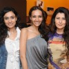Dipannita Sharma with Sangeeta Bijlani at launched of Anita Dongre desert cafe - Schokolaade at Khar