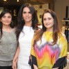 Anita with guests at launched of Anita Dongre desert cafe - Schokolaade at Khar Linking Road