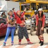 Additi Gupta, Kritika Kamra and Rakhi Sawant during the video shoot of title song Zara Nachke Dikha