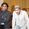 Ranbir Kapoor with A.R. Rahman for the film 'Rockstar' concert press meet at Santacruz in Mumbai