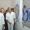 Lyricist Gulzar and Nana Patekar at Calligraphic Painting Exhibition 'Silver Calligraphy' in Mumbai