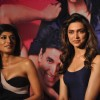 Deepika Padukone and Chitrangda Singh at Desi Boyz music launch at Enigma