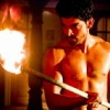 Gurmeet aka Maan Singh with fire