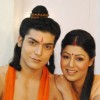 Gurmeet & Debina during shooting of Ramayan