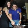 Bakhtiyaar Irani cutting Cake with wife Tanaaz Irani