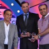 Sunil Gavaskar honoured Virender Sehwag and VVS Laxman at CEAT Cricket Rating Awards 2011 in Mumbai