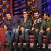 Akshay Kumar and John Abraham promote their film �Desi Boyz� on the sets of Bigg Boss Season 5 with Salman Khan and Sanjay Dutt at ND Studios in Karjat