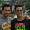 Akshay Kumar and John Abraham at 'Desi Boyz' media meet