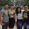 Akshay Kumar, Deepika Padukone, John Abraham and Chitrangda Singh at 'Desi Boyz' media meet