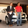 Audi India officially presenting an Audi Q7 to Superstar Salman Khan acknowledged the success of film 'Bodyguard' in Mumbai